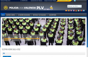 Web Oficial de la Policía Local de Valencia
